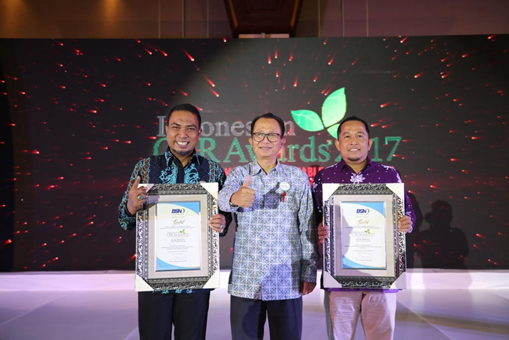 APRIL wins in gold for Social Investment & Sustainable Development at Indonesia CSR Awards 2017