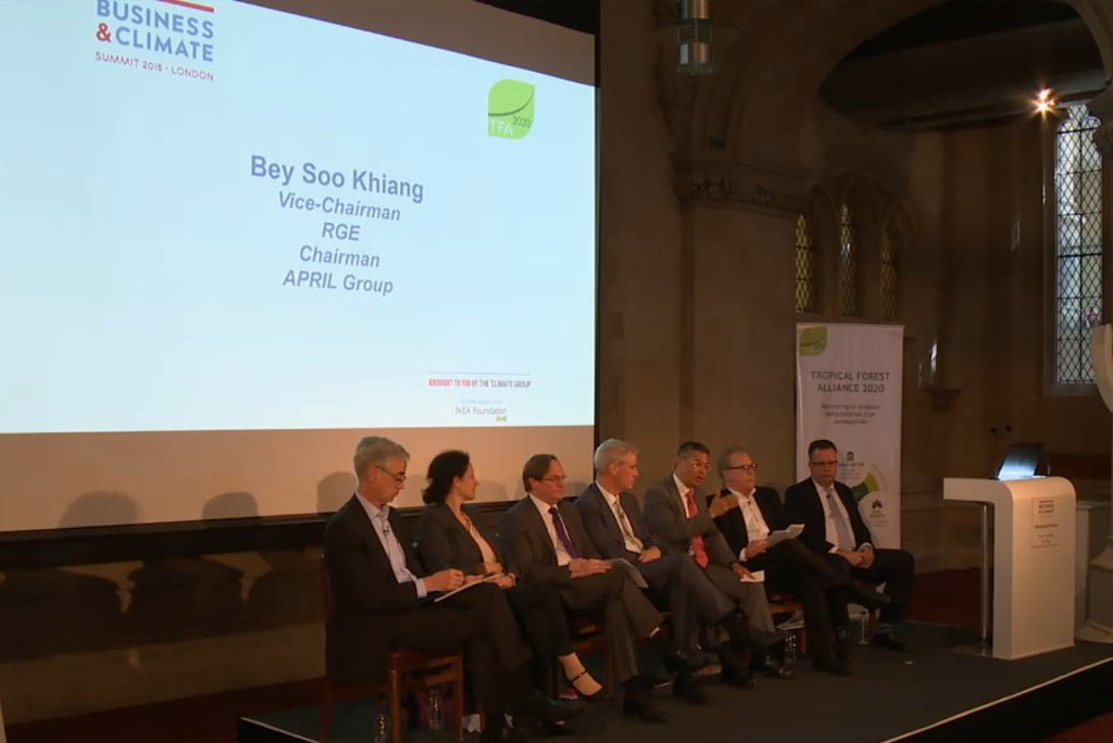 Mr Bey Soo Khiang speaks at Business and Climate Summit in London