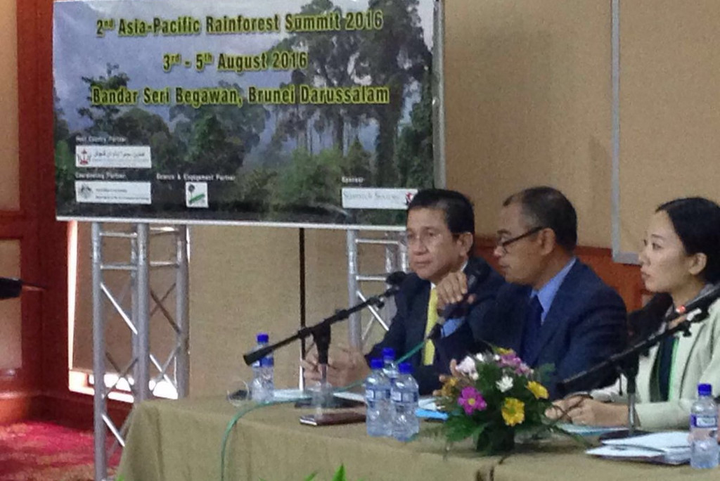 Tony Wenas in 2016 Asia-Pacific Rainforest Summit in Brunei Darussalam