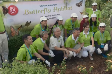APRIL enhances Bishan Ang Mo Kio Butterfly Habitat in Celebration of SG50