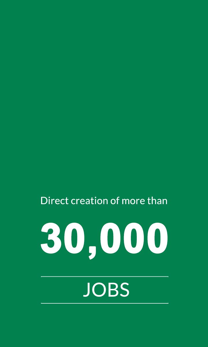 30,000 Jobs Created